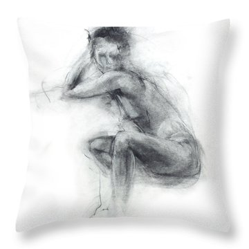 Dancer's Gaze Throw Pillow by Christopher Williams
