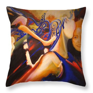 Dancers Throw Pillow by Georg Douglas