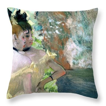 Dancers In The Wings  Throw Pillow by Edgar Degas