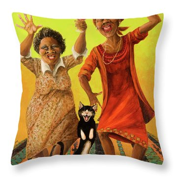 Dancin' Cause It's Tuesday Throw Pillow by Shelly Wilkerson