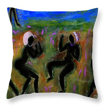 Dancing A Deliverance Prayer Throw Pillow by Angela L Walker