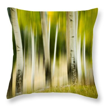 Dancing Aspens Throw Pillow