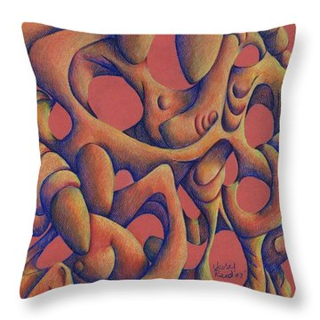 Dancing At A Wedding Reception Throw Pillow by Versel Reid