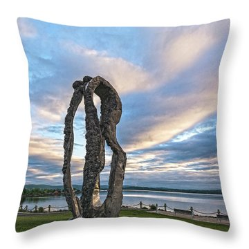 Dancing At Dawn Throw Pillow