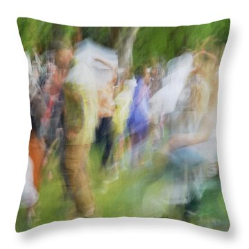 Dancing At The Music Festival Throw Pillow