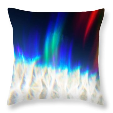Throw Pillow featuring the photograph Dancing At The North Pole by Greg Collins
