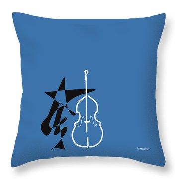 Dancing Bass In Blue Throw Pillow