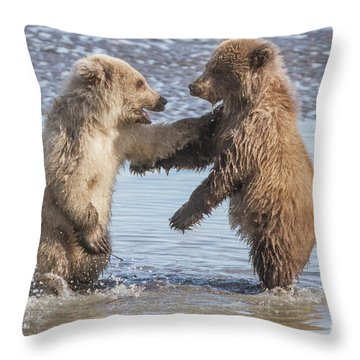 Dancing Bears Throw Pillow