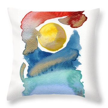 Throw Pillow featuring the painting Dancing by Bee-Bee Deigner