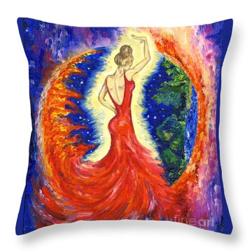 Dancing Between Two Worlds Throw Pillow