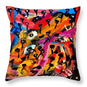 Dancing Car Keys Throw Pillow