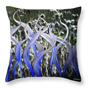 Dancing Chihuly  Throw Pillow
