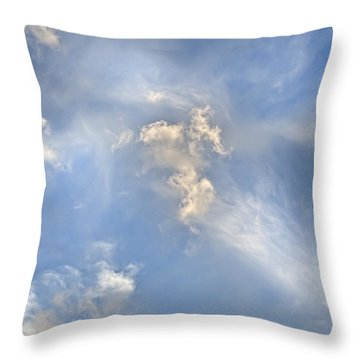 Throw Pillow featuring the photograph Dancing Clouds by Wanda Krack