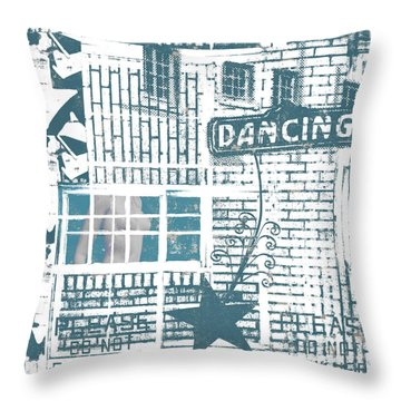 Dancing Collage Throw Pillow