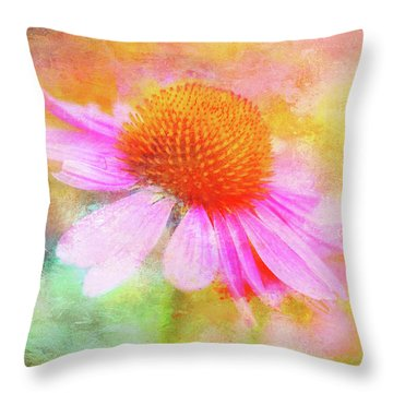 Dancing Coneflower Abstract Throw Pillow