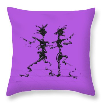 Dancing Couple 2 Throw Pillow