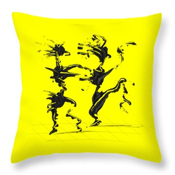 Dancing Couple 4 Throw Pillow
