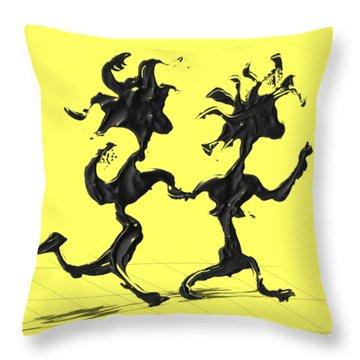 Dancing Couple 7 Throw Pillow