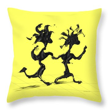 Dancing Couple 7 Throw Pillow