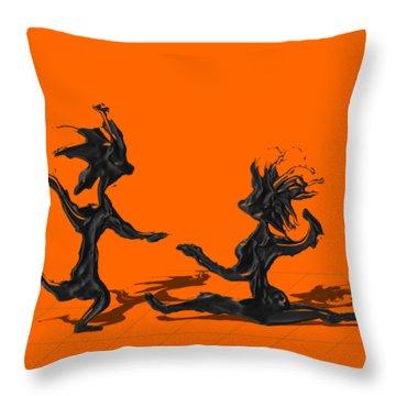 Dancing Couple 9 Throw Pillow