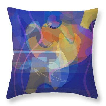 Dancing Days Throw Pillow by David Klaboe