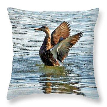 Dancing Duck Throw Pillow