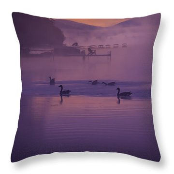 Dancing Geese Throw Pillow
