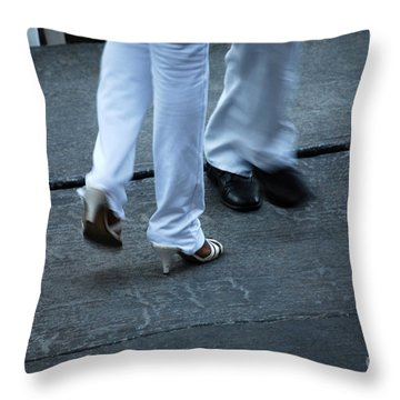 Dancing Feet At The Dominican Republic Son Party Number One Throw Pillow by Heather Kirk