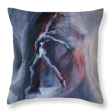 Dancing Figure Throw Pillow by Denise Fulmer