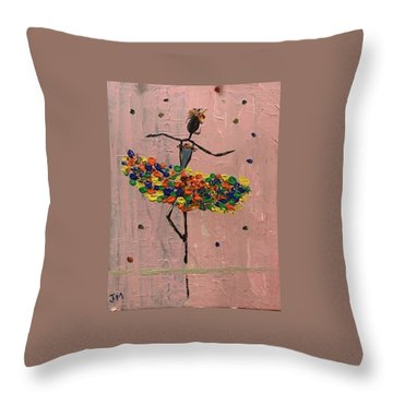 Dancing Girl Throw Pillow