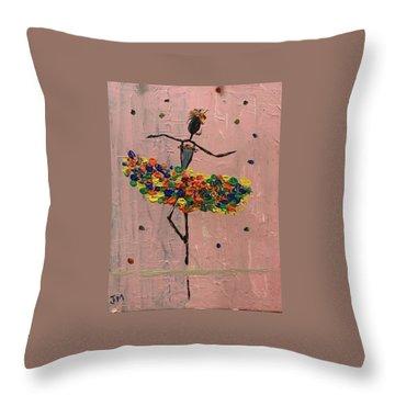Dancing Girl Throw Pillow