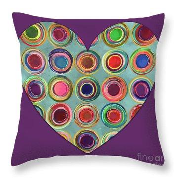 Dancing In Circles Heart Throw Pillow by Carla Bank