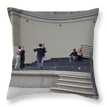 Dancing In Golden Gate Park Throw Pillow