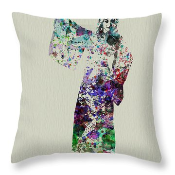 Dancing In Kimono Throw Pillow