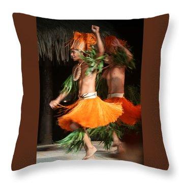 Dancing In Tahiti Throw Pillow