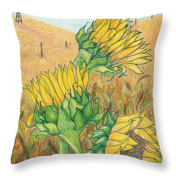 Dancing In The Breeze  Throw Pillow by Vicki  Housel