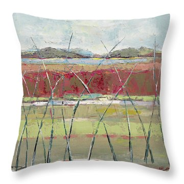 Dancing In The Field Throw Pillow by Becky Kim
