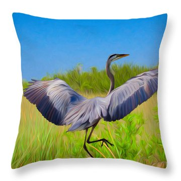 Dancing In The Glades Throw Pillow