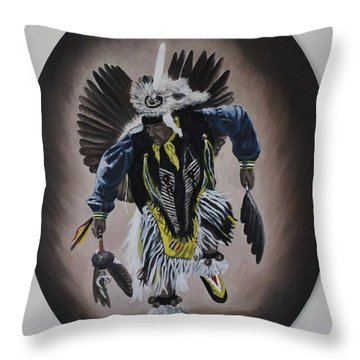 Throw Pillow featuring the painting Dancing In The Spirit by Michael  TMAD Finney
