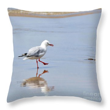 Dancing In Time With My Reflection Throw Pillow by Kaye Menner