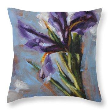 Dancing Iris Throw Pillow