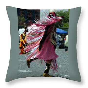 Dancing Throw Pillow by Kathleen Struckle