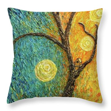 Dancing Leves Throw Pillow