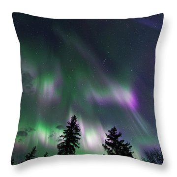 Dancing Lights Throw Pillow by Dan Jurak
