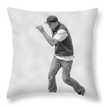 Dancing Man Throw Pillow