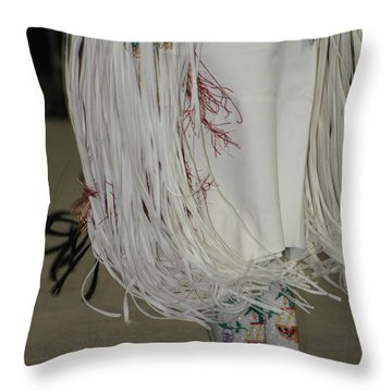 Dancing Moccasins Throw Pillow