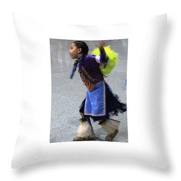 Dancing Native Child Throw Pillow