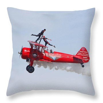 Dancing On The Wings Throw Pillow by Shoal Hollingsworth
