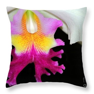 Dancing Orchid Throw Pillow by Sabrina L Ryan