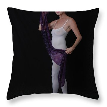 Throw Pillow featuring the photograph Dancing Outside The Lines by Nancy Taylor